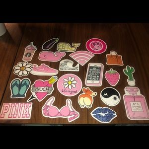 22 Girly Stickers - PINK Life is Good Nike Disney
